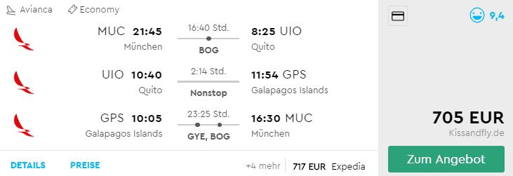 Momondo MUC-UIO-GPS