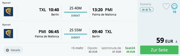 Momondo TXL-PMI Ryanair
