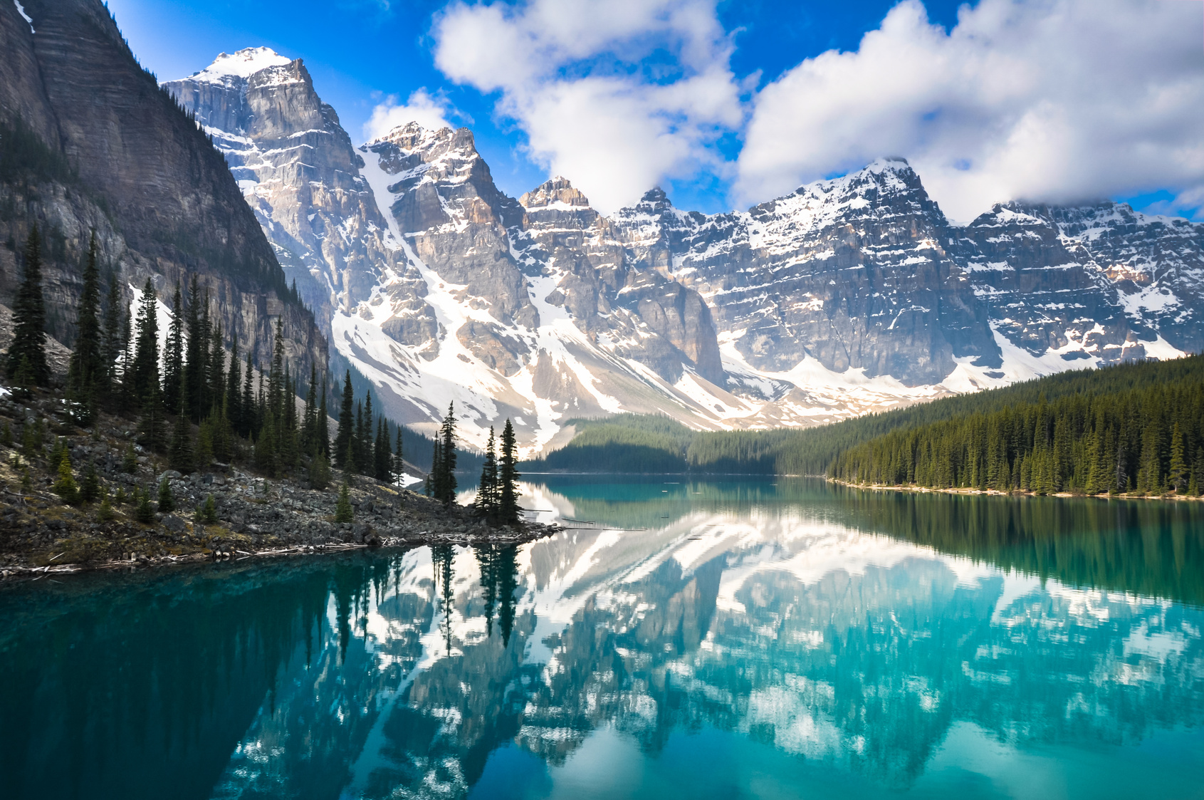 Moraine Lake, Rocky Mountains, Kanada