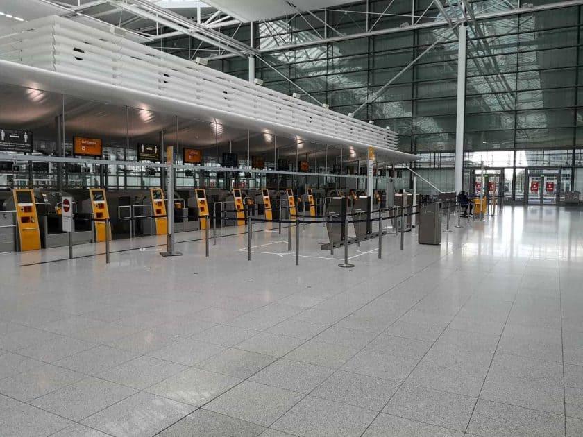 Munich Airport empty 2
