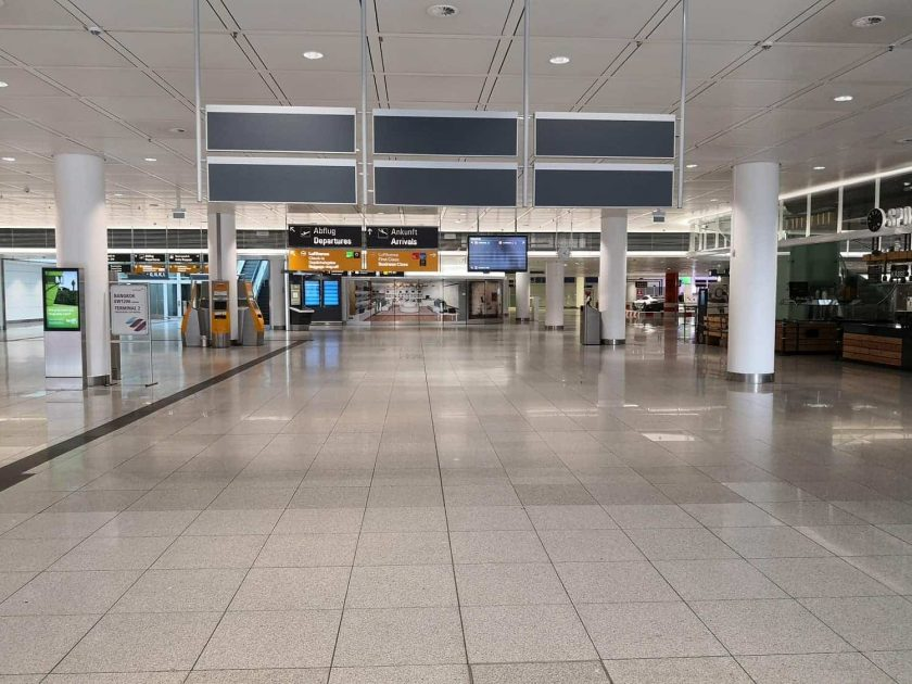 Munich Airport empty
