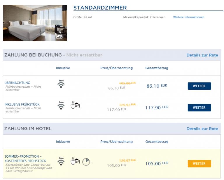 NH Hotels Preisvergleich