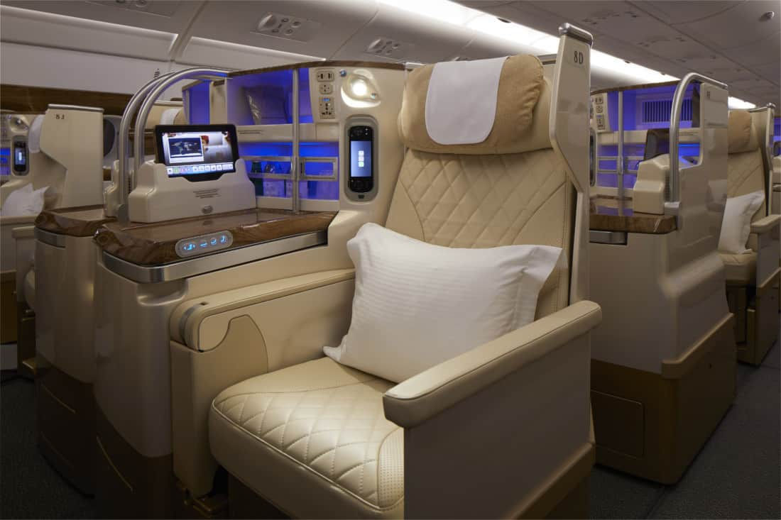 Neues Emirates Business Class Design
