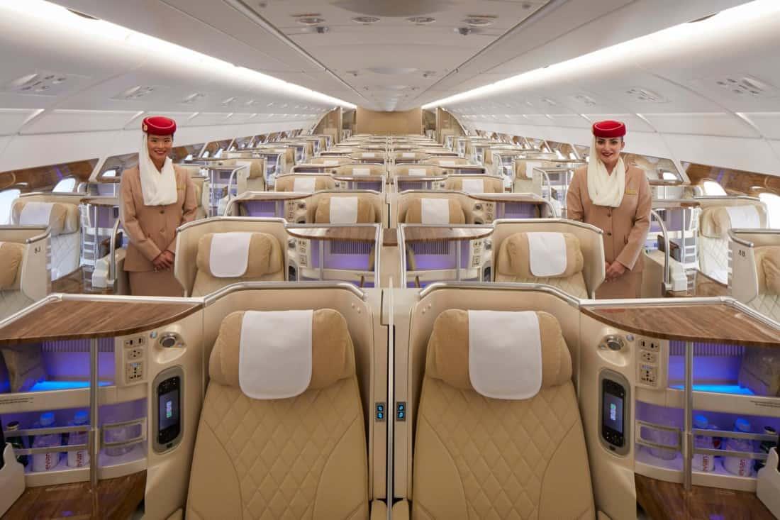 Neues Emirates Business Class Design Kabine