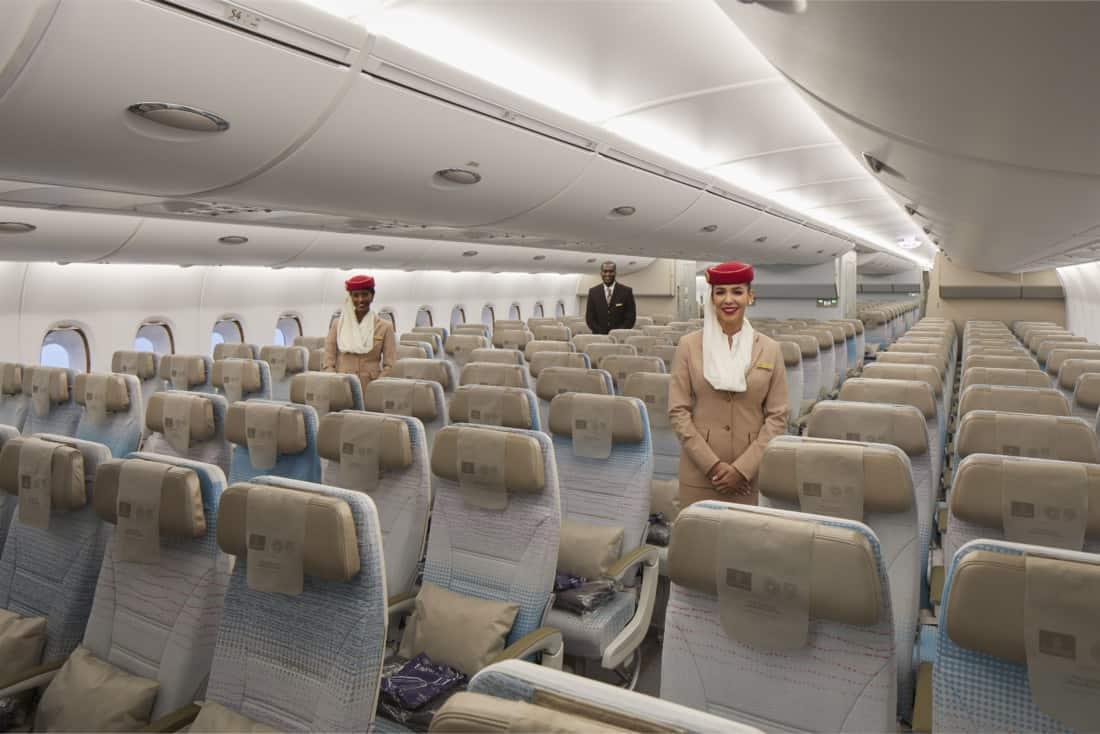 Neues Emirates Economy Class Design Frontansicht