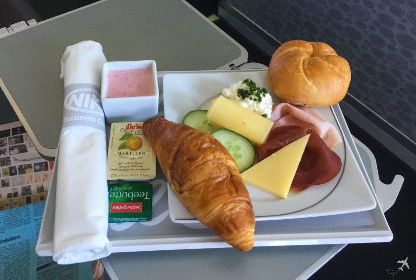 Air Berlin European Business Class Frühstück