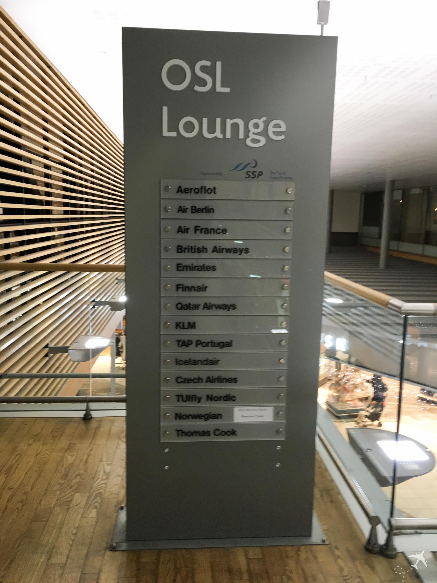 OSL Lounge Zutritt