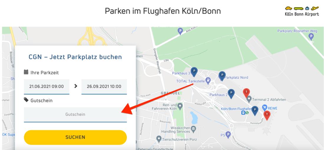 Park Aero Flughafen Koeln Bonn Parken Gutscheinfeld
