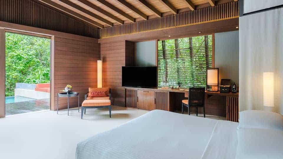 Park Hyatt Maldives Hadahaa Pool Villa Bedroom
