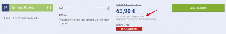 Parken Frankfurt Flughafen Gutschein eingeloest