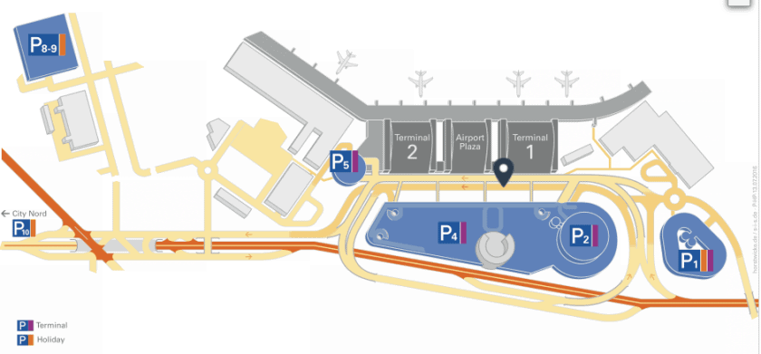 Parkkarte Hamburg Airport