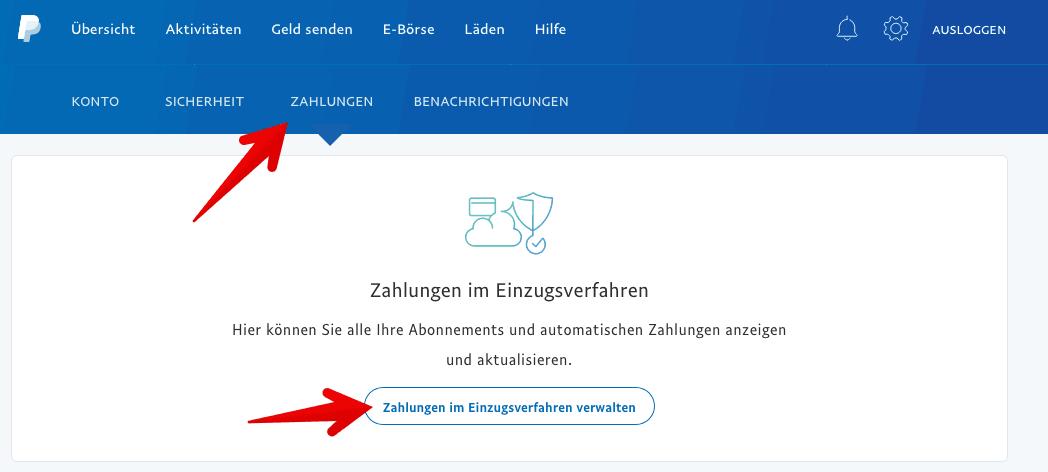 PayPal Einstellungen Zahlungen