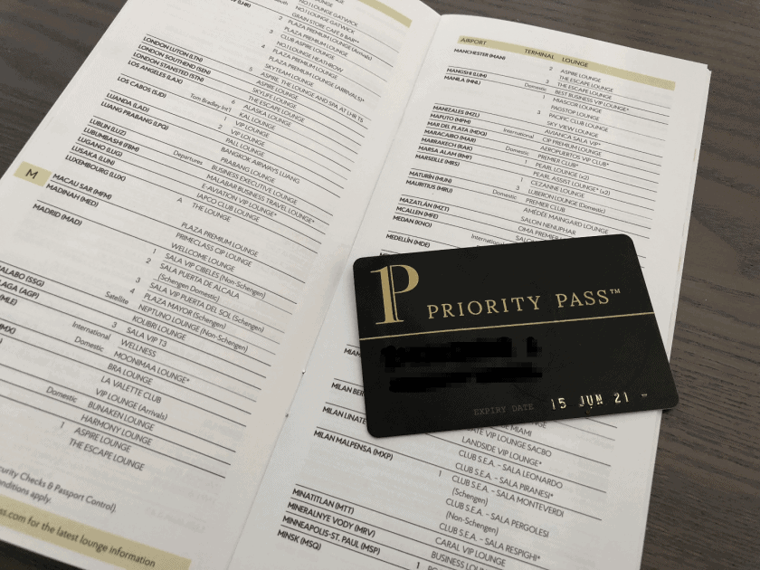 Priority Pass Lounge Listing