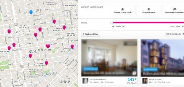 Airbnb Suche