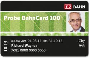 Deutsche Bahn Probe BahnCard 100
