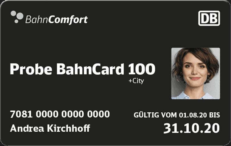 Probe BahnCard 100