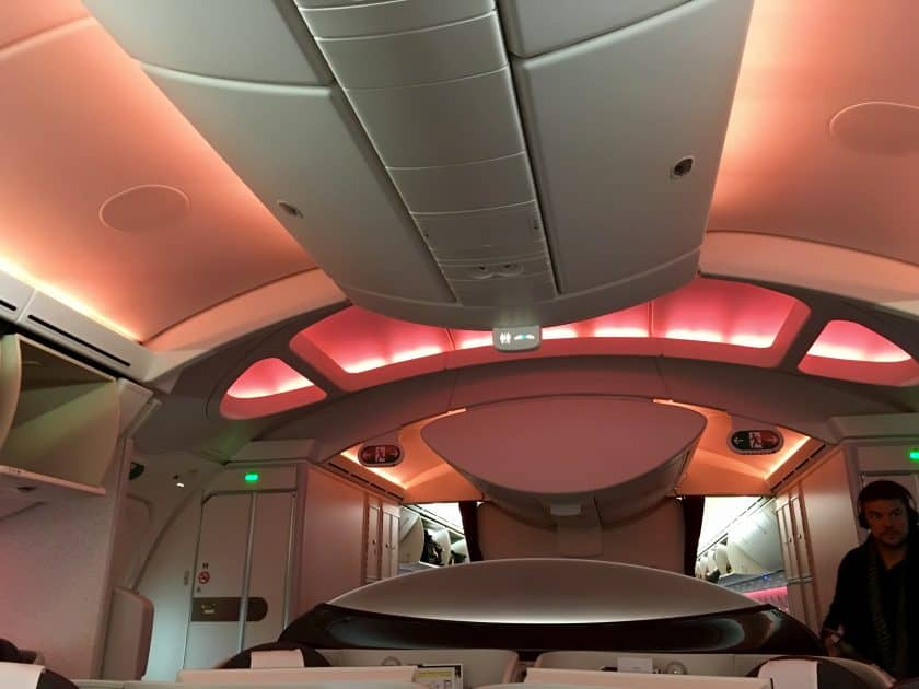 Qatar Airways Business Class Beleuchtung
