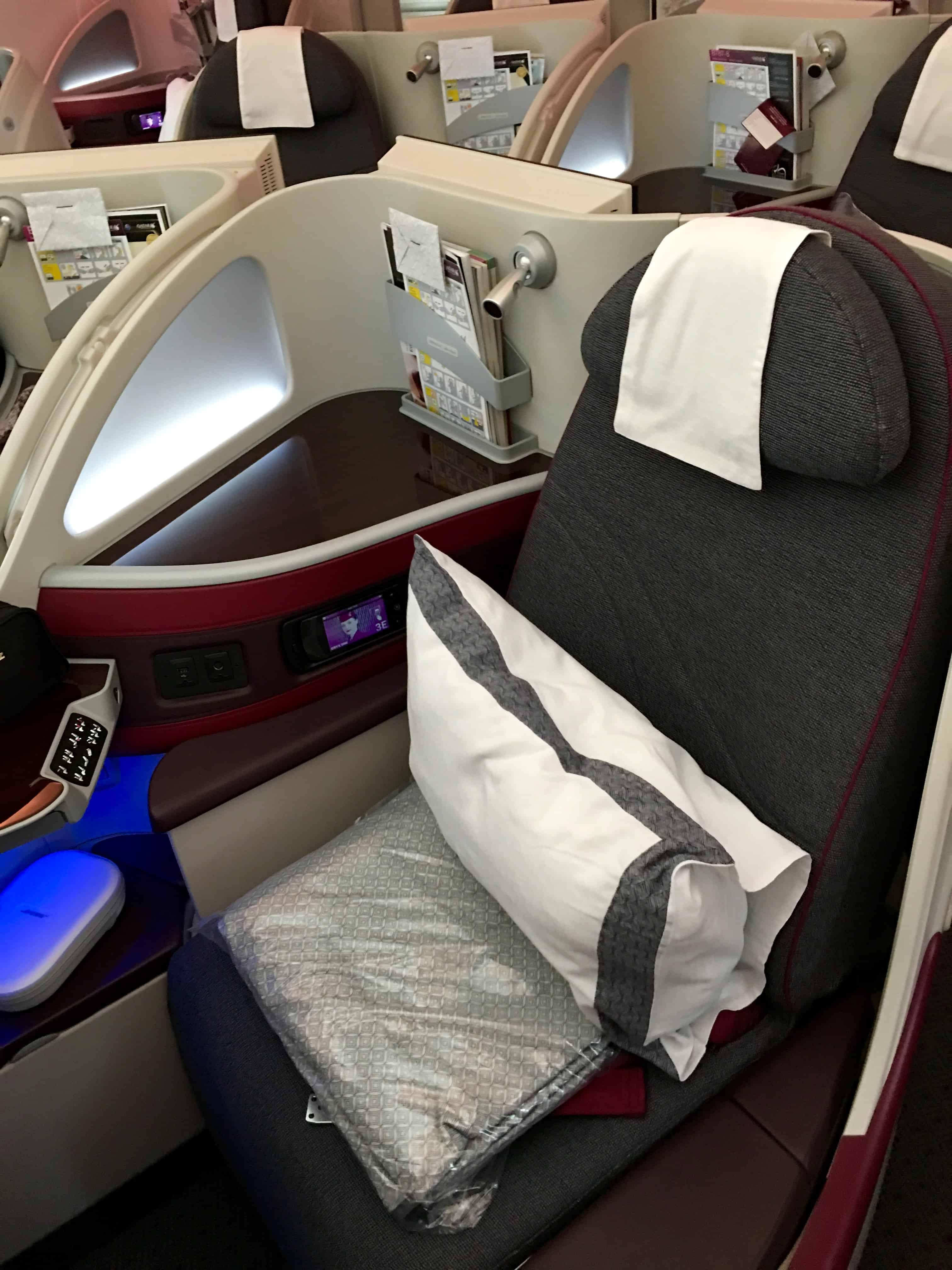 Qatar Airways Business Class Sitze