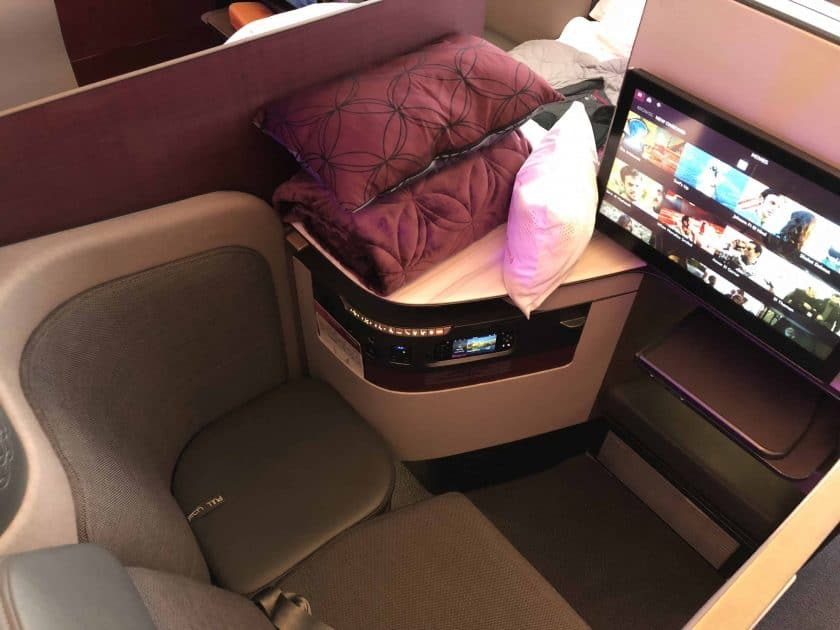 Qatar Airways QSuite Mitte Einzelsitz