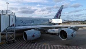 Qatar Eco Airbus A380 Aussenansicht crop