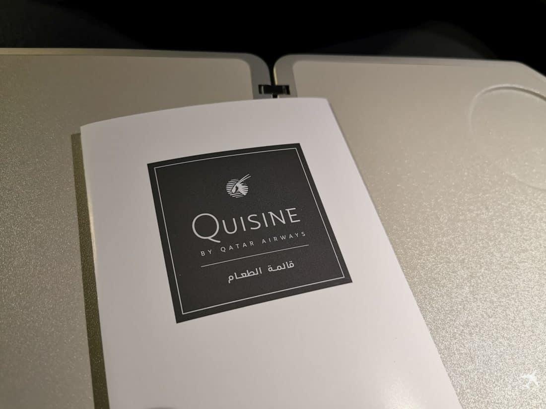 Qatar Eco Airbus A380 Quisine
