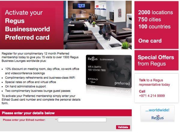 Regus Businessworld Preferred Card
