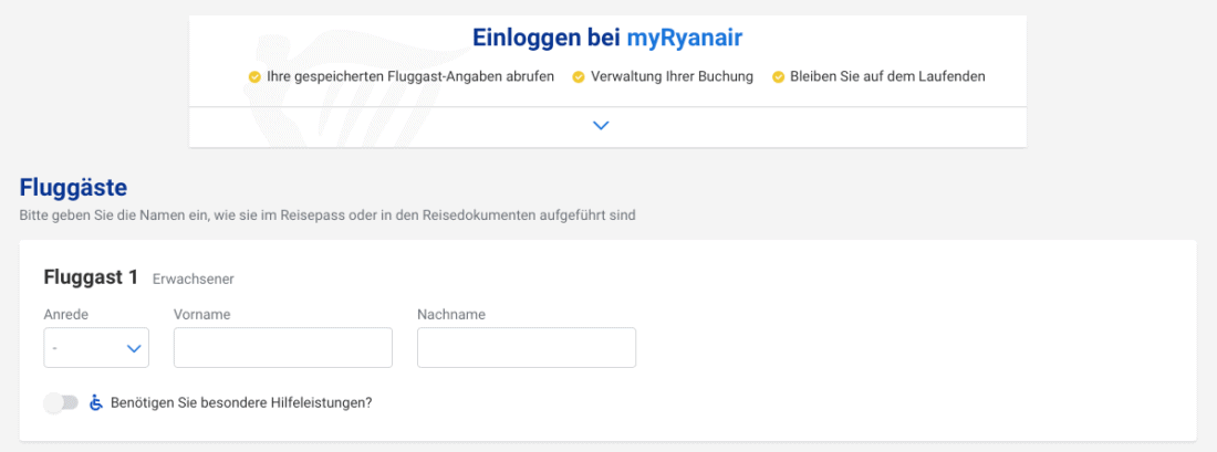 Ryanair Fluggaeste 2020