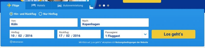 Ryanair Flugsuche