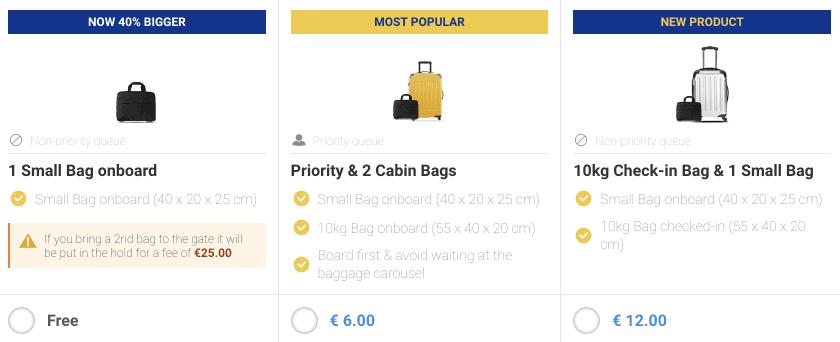 Ryanair STR GOT Gepaeck