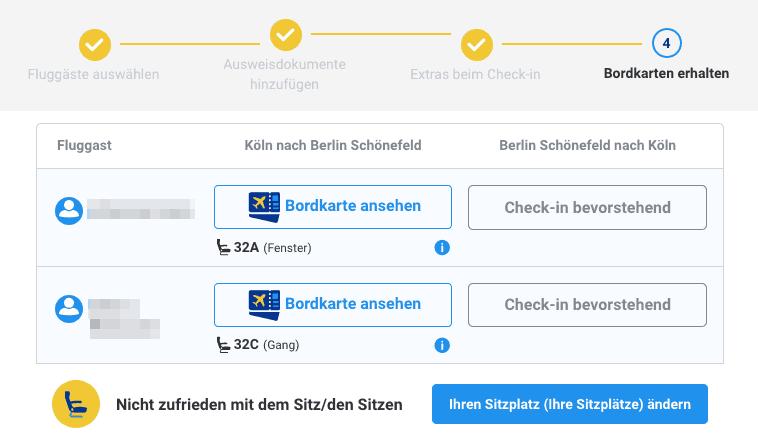 Ryanair Sitzplätze nebeneinander