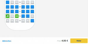 Ryanair Sitzplatz korrigieren