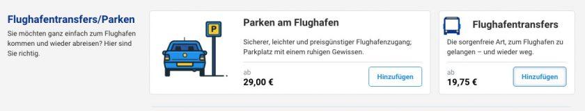 Ryanair Transfers/Parken
