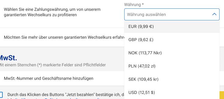 Ryanair Waehrungsumrechnung 2020