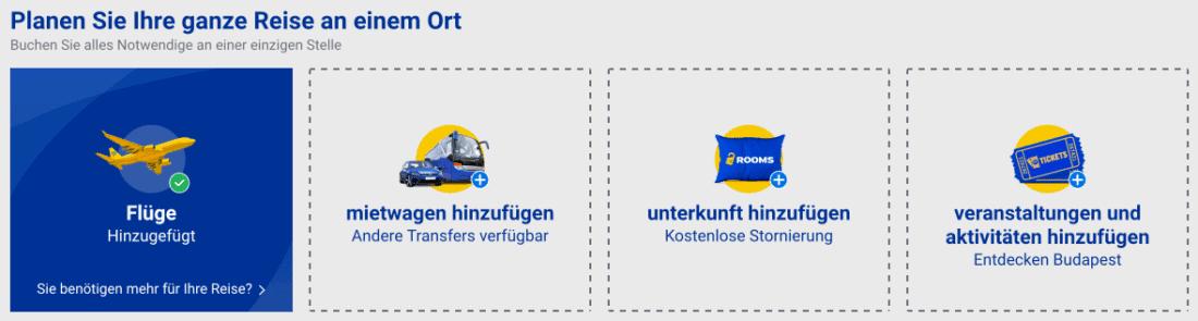 Ryanair weitere weitere Extras 2020