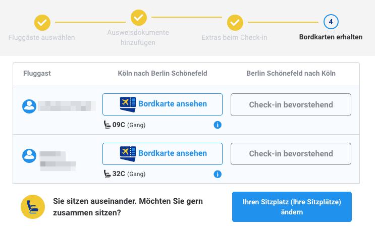 Ryanair zufällige Sitzplätze vergeben
