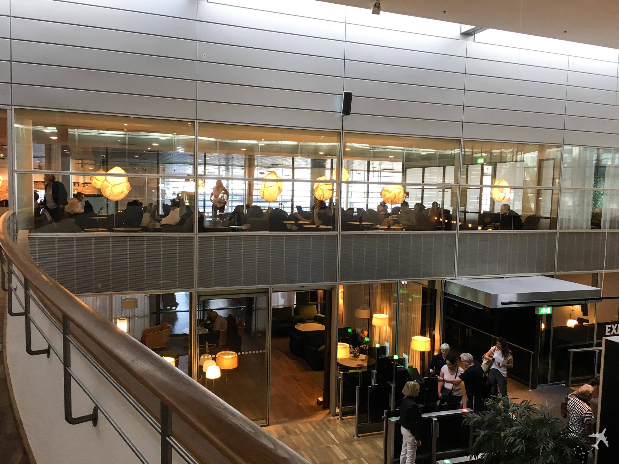 SAS Gold Lounge Kopenhagen Oben
