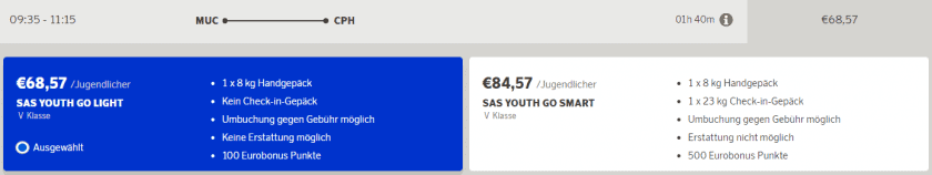 SAS Youth Fare