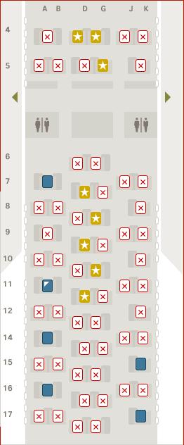 SWISS Business Class 777 Sitzplatzreservierung kostenpflichtig