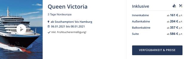 Seereisedienst Queen Victoria