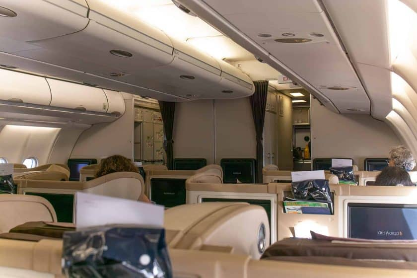 Singapore Airlines A330 Business Class Cabin