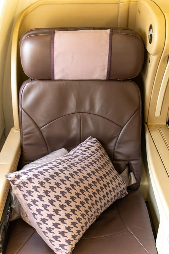 Singapore Airlines A330 Business Class Seat