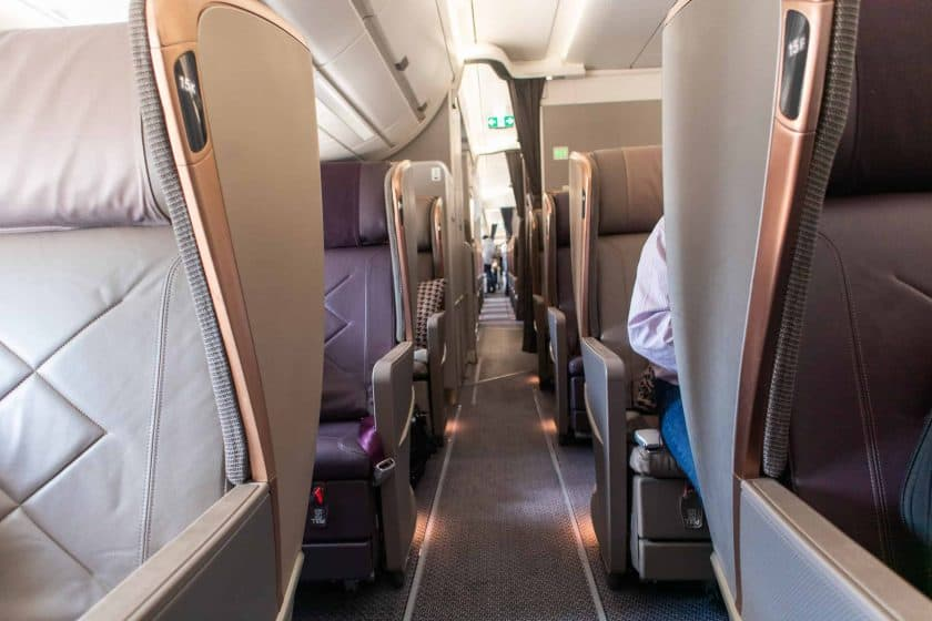 Singapore Airlines A350 Business Class Gang