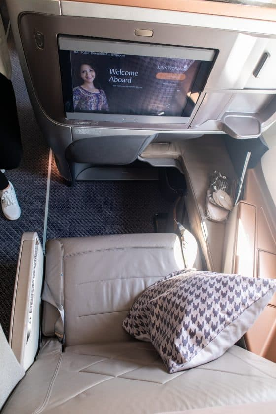 Singapore Airlines A350 Business Class Sitz 2