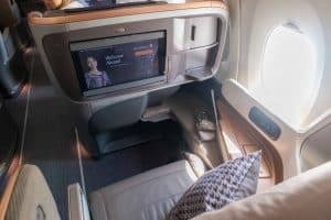 Singapore Airlines A350 Business Class Sitz