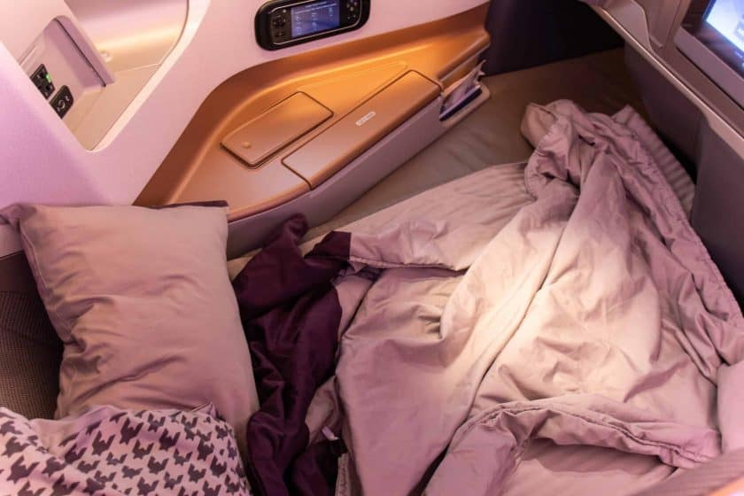 Singapore Airlines A350 Business Class Sitz Bett
