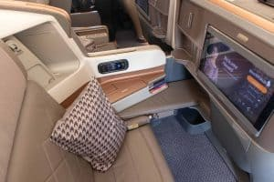 Singapore Airlines A350 Business Class Sitz Mitte