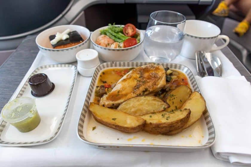 Singapore Airlines Boeing 787 10 Business Class Meal Chicken
