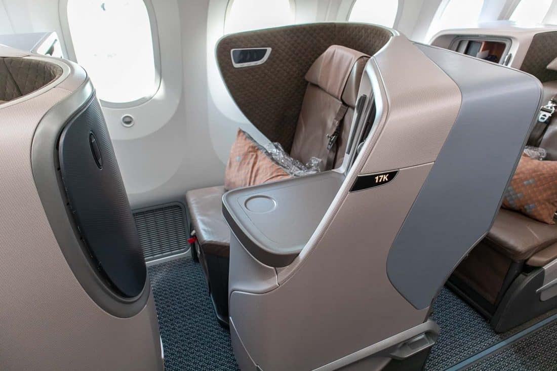 Singapore Airlines Boeing 787 10 Business Class Seat Window