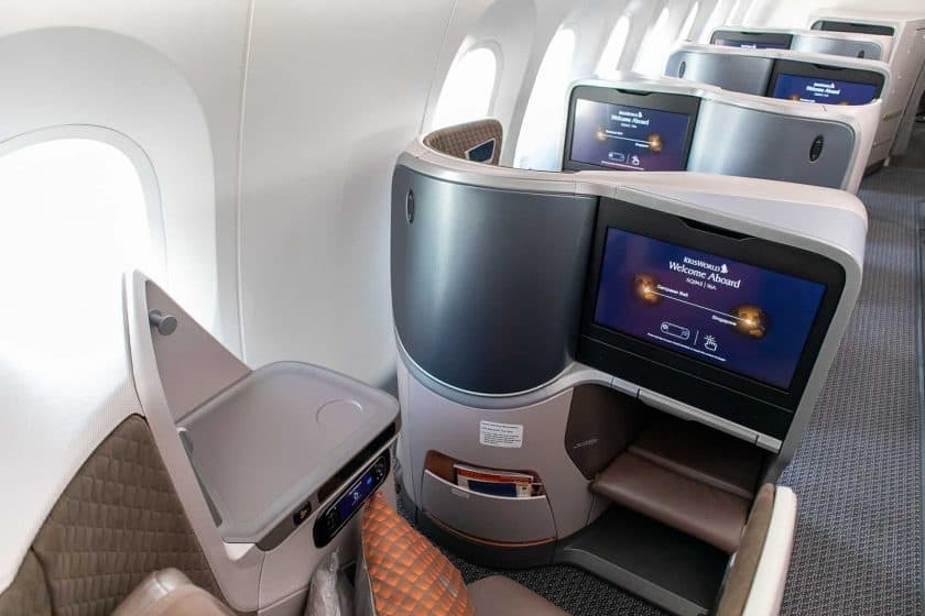 Singapore Airlines Boeing 787 10 Business Class Window