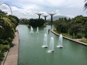 Singapur gardens by the bay fontainen